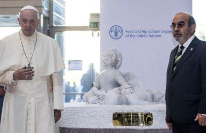 Papa: é possível sonhar um mundo sem fome. Falta vontade política
