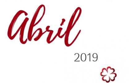 Calendário das atividades de Abril 2019