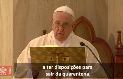 O Papa: o Senhor dê prudência a seu povo diante da pandemia