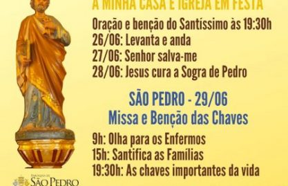 Festa de São Pedro terá programação especial nesta quarentena