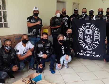 Grupo Insanos Moto Clube faz doação a famílias carentes da Paróquia São Pedro